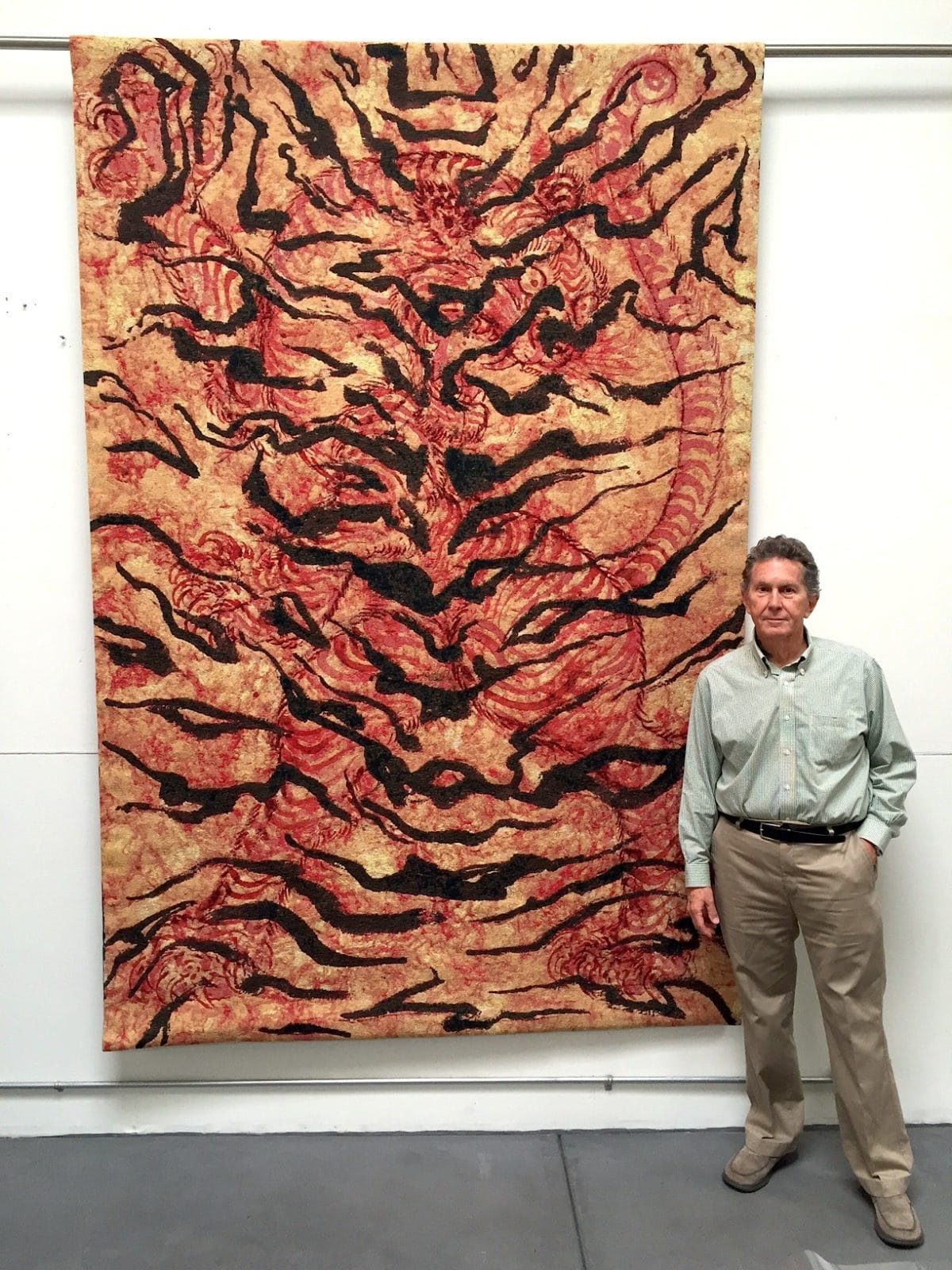 """Ed Hardy Pictured w/ Rose 2014 Jacquard Tapestry 105 x 70"""" (Ed. of 6)"""