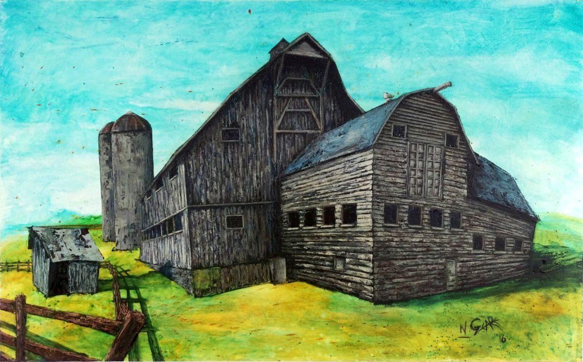 """McPolin Farm Utah"" by Nate Geare | 30"" x 48"" | Oil on Wood Panel | 2015"
